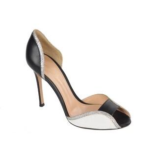 Gianvito Rossi Women's Multicolor Leather OpenToe Pump Heel