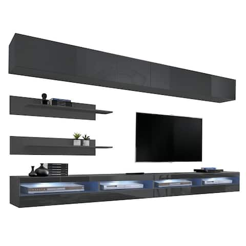 Fly I 34TV Wall Mounted Floating Modern Entertainment Center