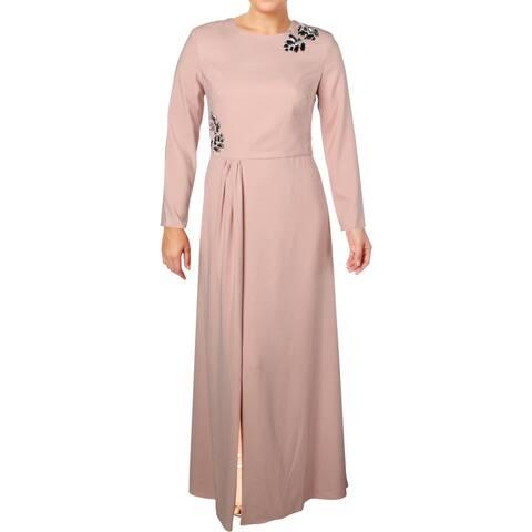 Kay Unger New York Womens Evening Dress Embellished Formal