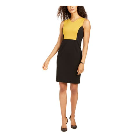 KASPER Black Sleeveless Above The Knee Sheath Dress Size 6