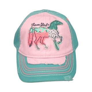 Farm Girl Western Hat Girls Patched Horse Turquoise F63088199 - M/L