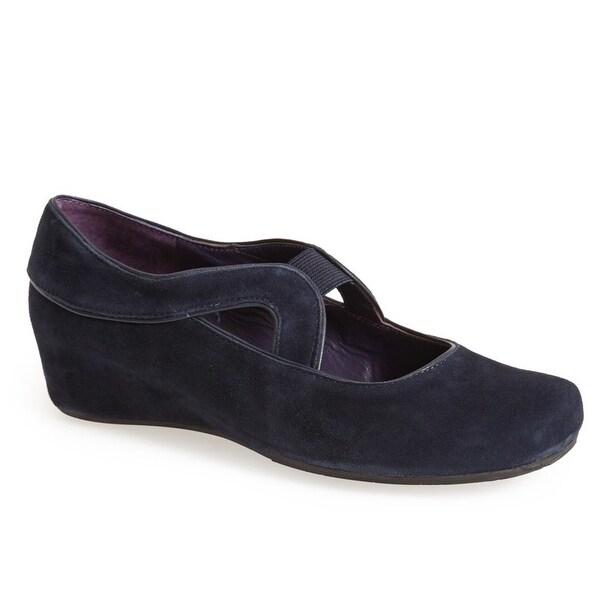 Vaneli Black Marga Shoes Size 6M Pump Wedges Suede Heels