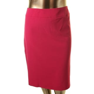 Nine West Womens Plus Lined Partial Stretch Waist Pencil Skirt