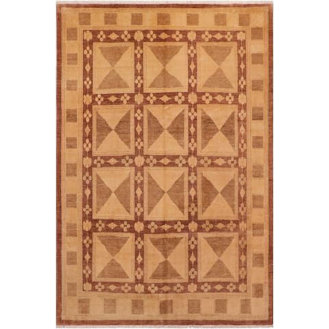 """Bohemien Ziegler Sommer Hand Knotted Area Rug -7'10"""" x 9'6"""" - 7 ft. 10 in. X 9 ft. 6 in."""