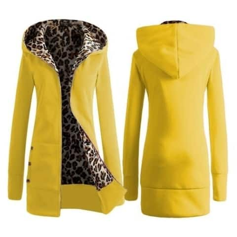 Leopard Sweater Tops Women's Jackets