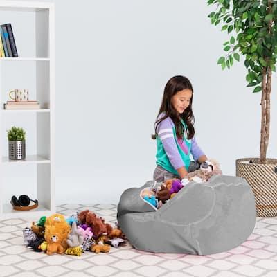 Kids' Stuffed Animal Storage Bean Bag Chair Cover or Toy Organizer