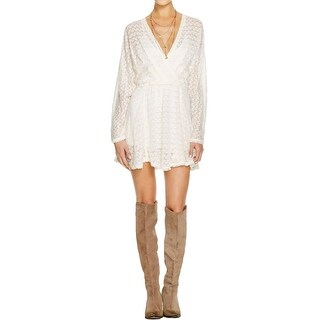 Free People Womens Snug Bug Casual Dress Wool Blend Faux Wrap