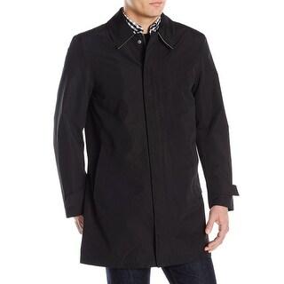 Cole Haan NEW Solid Deep Black Mens Size Large L Rainwear Coat