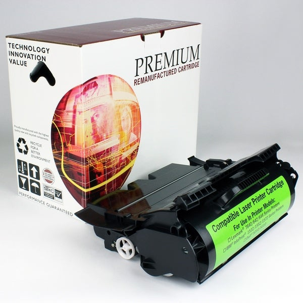 ReMade in America Premium Brand replacement for Lexmark T640 Toner High Yield Label Application