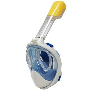 Snorkel Master Blue Full Face Prescription Mask w/ GoPro Clip, L/XL
