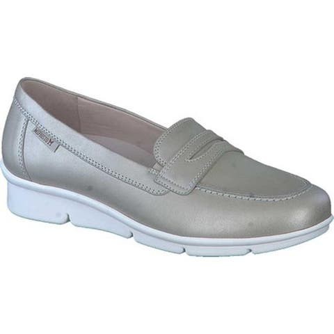 Mephisto Women's Diva Penny Loafer Light Taupe Perlkid Leather