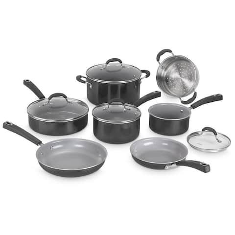 Cuisinart Ceramica XT Nonstick 11-Piece Cookware Set (Black)