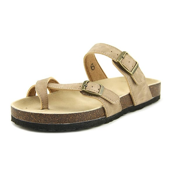 Pierre Dumas Bork-30 Women Open Toe Synthetic Tan Slides Sandal