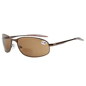 b461c013e9 Shop Eyekepper Metal Frame Fishing Golf Cycling Flying Outdoor Bifocal  Sunglasses Brown+1.5 - Free Shipping On Orders Over  45 - Overstock.com -  15913248