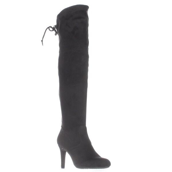 Rialto Calla Pull On Over-The-Knee Boots, Black