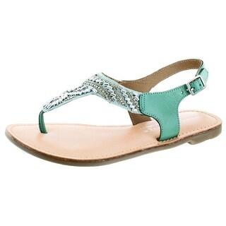 Very Volatile Sari Women's Beaded Thong Sandals