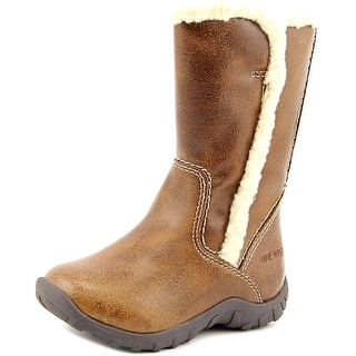 Nine West Demi Toddler Round Toe Synthetic Tan Winter Boot