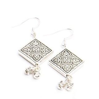 Hope Tibetan Silver Earrings
