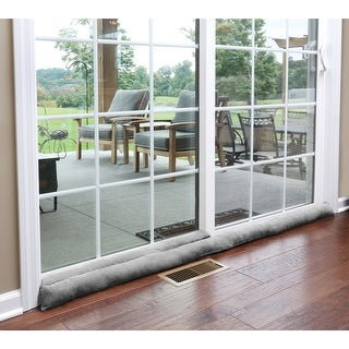 "Home District Sliding Door Draft Dodger - Weighted Patio Door Breeze, Bug and Noise Guard Stopper Blocker - 71"" Long - Gray"