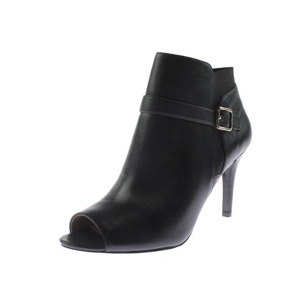 Marc Fisher Womens Shimmee Ankle Boots Leather Open Toe