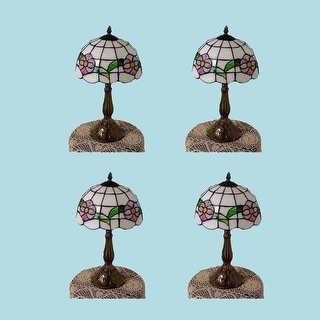 4 Table Lamp Brass Style Lamp 18.75H Multicolor