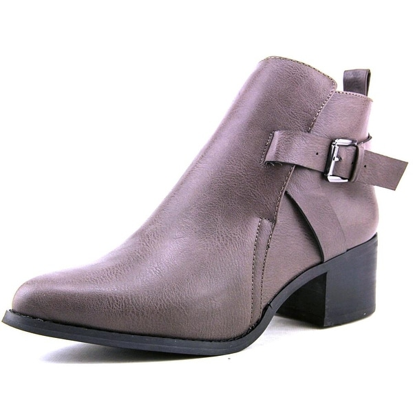 Mia Nahira Women Pointed Toe Synthetic Gray Ankle Boot