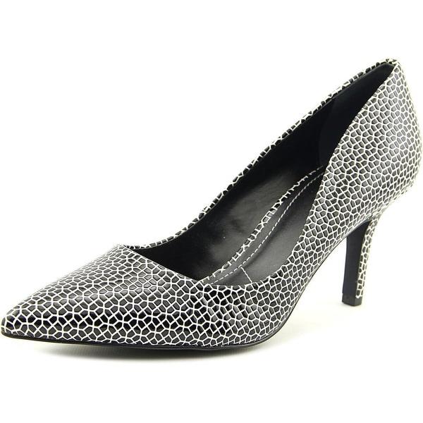 Charles By Charles David Sasha Women Pointed Toe Leather Black Heels