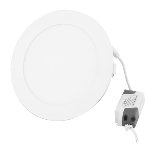 White 12W Round Home Dimmable LED Recessed Ceiling Panel Light Lamp AC85-265V