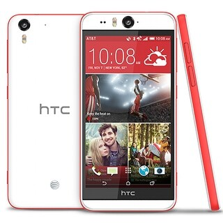 HTC Desire Eye M910x AT&T Unlocked GSM 4G LTE Phone w/ 13MP Front & Rear Camera - White/Red (Certified Refurbished)