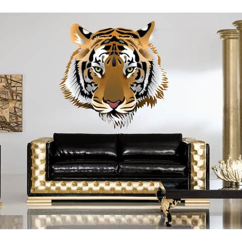 Tiger Head Full Color Decal