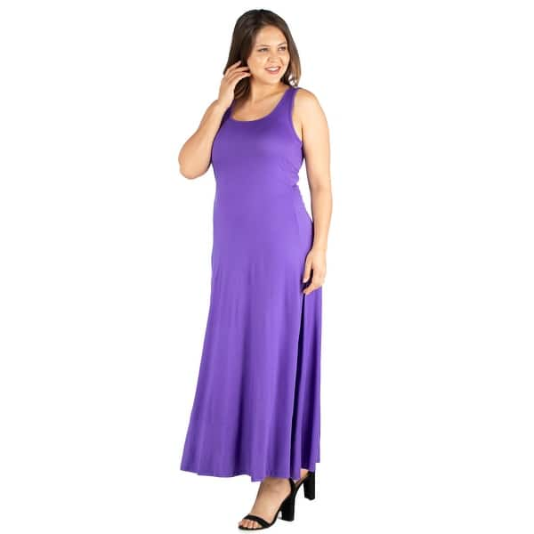 Shop 24seven Comfort Apparel Simple A Line Plus Size Tank ...