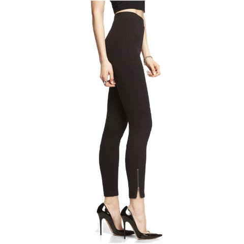 Ponte Knit Ankle Zip Legging Targeted Slimming Contour Skweez Couture Jill Zarin