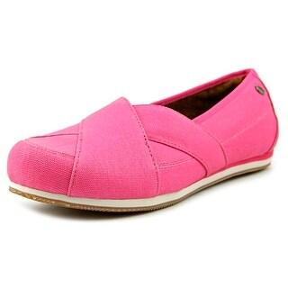 MOZO Sport Flat Women Round Toe Canvas Pink Flats