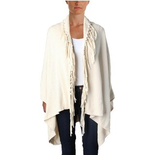 Lauren Ralph Lauren Womens Cardigan Sweater Fringe Open Front