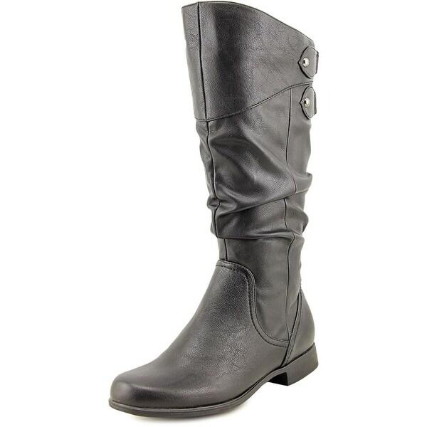 Hush Puppies Gianna Motive Women Round Toe Synthetic Black Mid Calf Boot