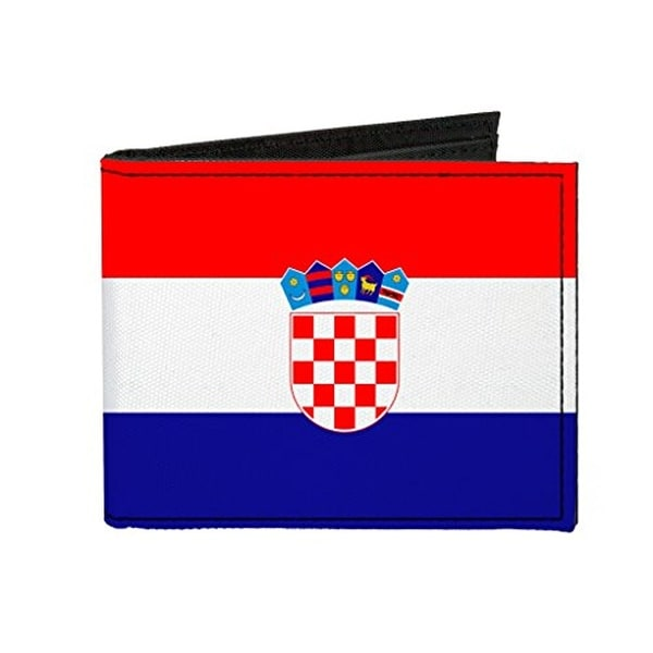 Buckle-Down Canvas Bi-fold Wallet - Croatia Flag Accessory
