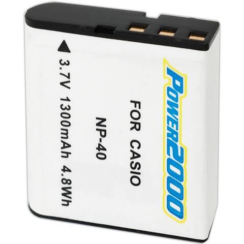 Vidpro Power 2000 Li-ion Battery for Casio NP-40/Kodak LB-060 - White