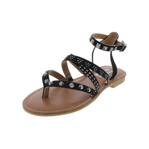 Steve Madden Womens Natallia Flat Sandals Open Toe Strappy - 5.5 medium (b,m)