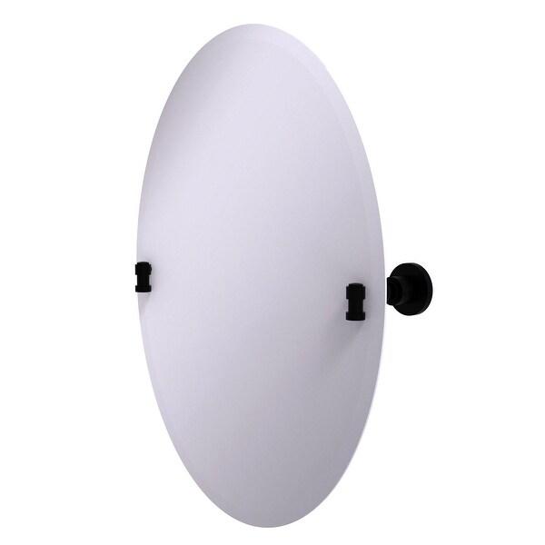 Allied Brass Frameless Oval Tilt Mirror with Beveled Edge