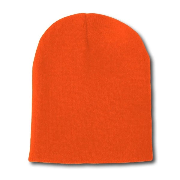 f605f7c0d94b Shop Solid Winter Short Beanies (Comes In Many Different Colors), Orange -  Free Shipping On Orders Over $45 - Overstock - 18027350