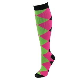 Think Medical Women's Diamond Block Fashion Compression Sock - Multi - One Size