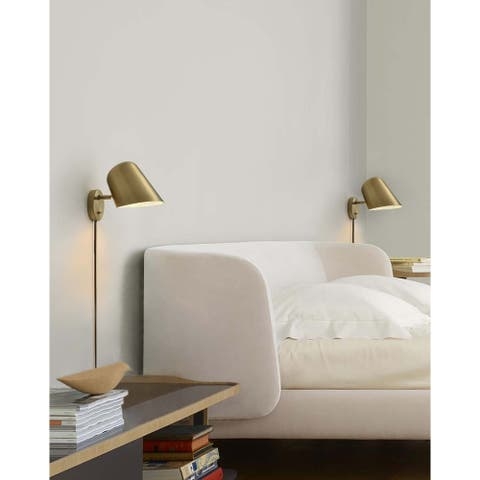 Culver Wall Sconce, Brushed Brass