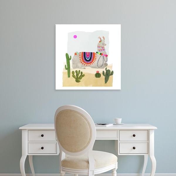 Easy Art Prints Victoria Borges's 'Llamarama III' Premium Canvas Art