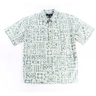 Ono & Company NEW Blue Mens Size Small S Batik Print Button-Front Shirt
