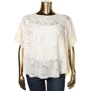 Jessica Simpson Womens Plus Gwen Blouse Embroidered Swing - 2x