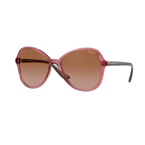 Vogue VO5349S 286513 55 Transparent Pink Woman Butterfly Sunglasses