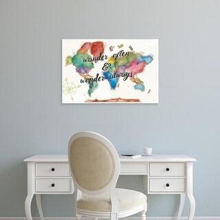 Easy Art Prints Jess Aiken's 'Colorful World I' Premium Canvas Art