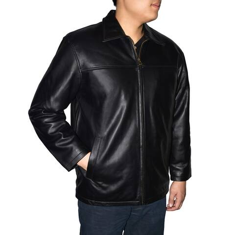 Men's Classic Lambskin Straight Bottom Jacket
