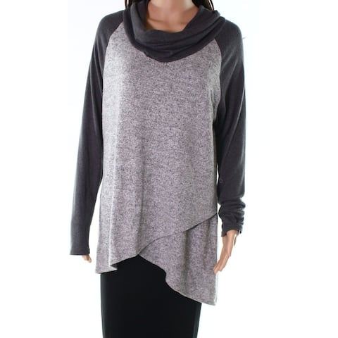 Moa Moa Gray Charcoal Womens Size XL Long Sleeve Tunic Sweater