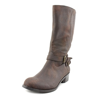 Style & Co Nash Round Toe Canvas Mid Calf Boot